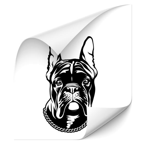 Französische Bulldogge Hecksticker - Kategorie Shop