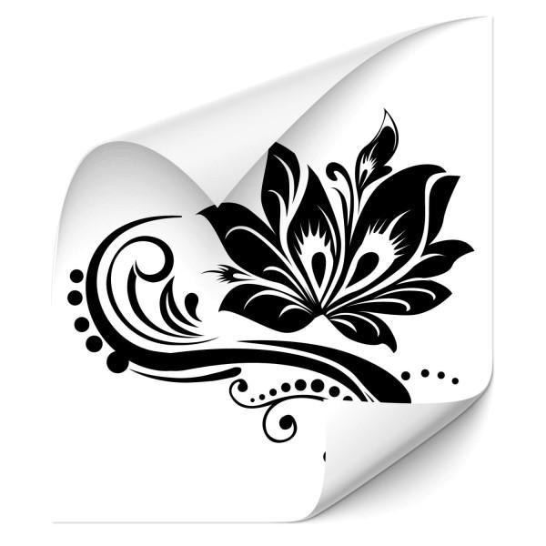Blüten Ornament Motorhauben Aufkleber - Kategorie Shop