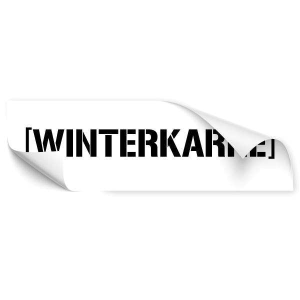 Winterkarre Schriftzug Car Tattoo - Kategorie Shop