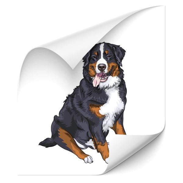 Berner Sennenhund Fahrzeug Aufkleber - Kategorie Shop