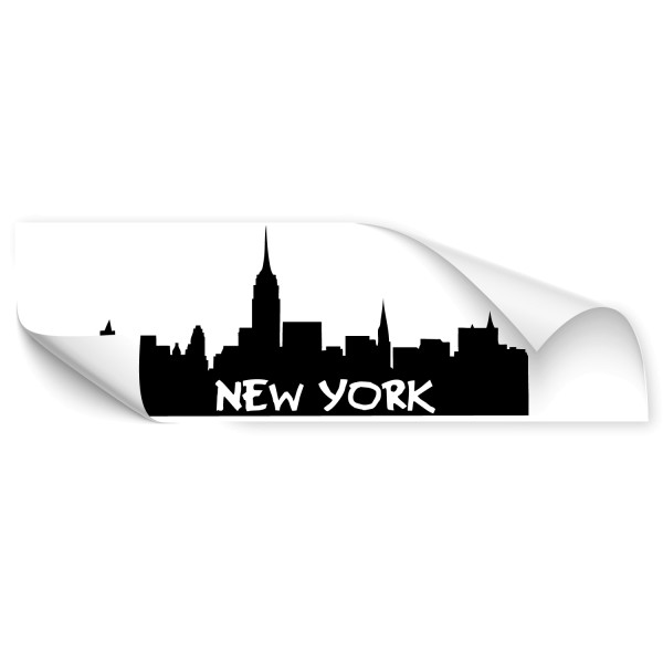 New York Skyline Auto Folienaufkleber - Kategorie Shop