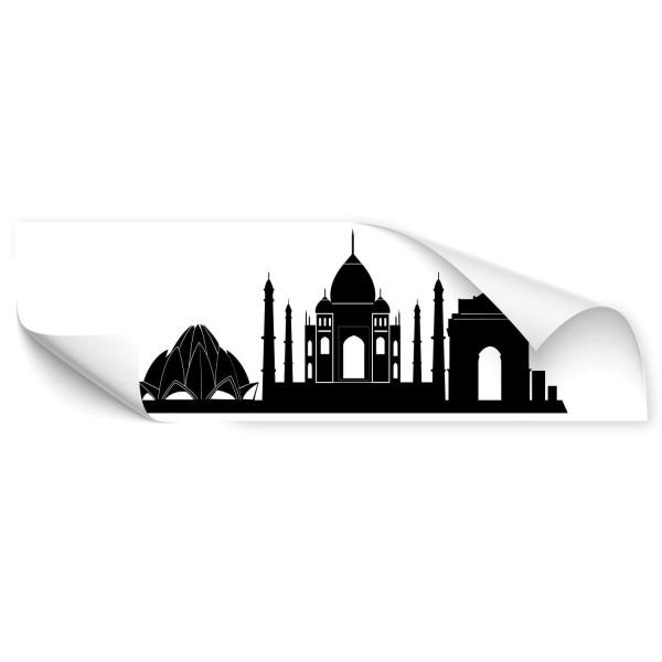 Delhi Silhouette Outdoor Fahrzeug Aufkleber - wandtattoo