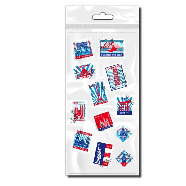 Briefmarken Aufkleber - Kategorie Shop