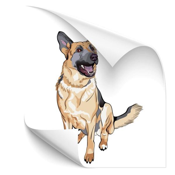 Deutscher Schäferhund Hunde Heckaufkleber - Kategorie Shop