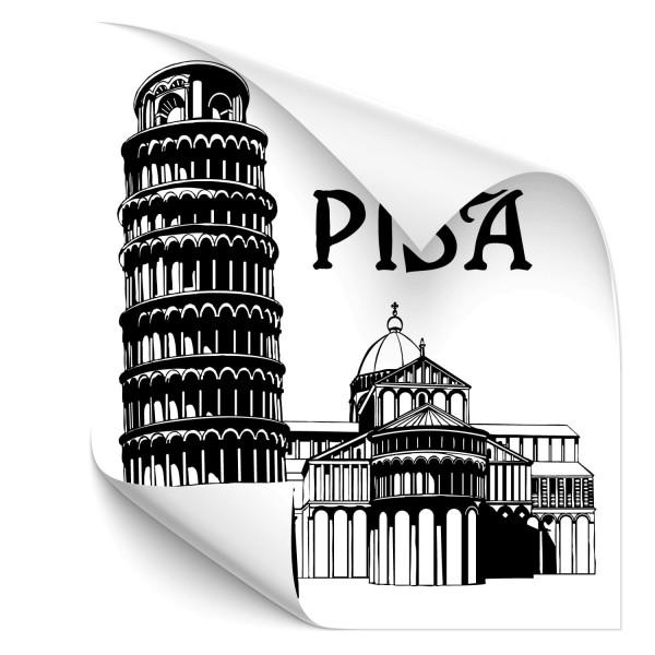 Schiefer Turm vom Pisa Auto Aufkleber - Kategorie Shop