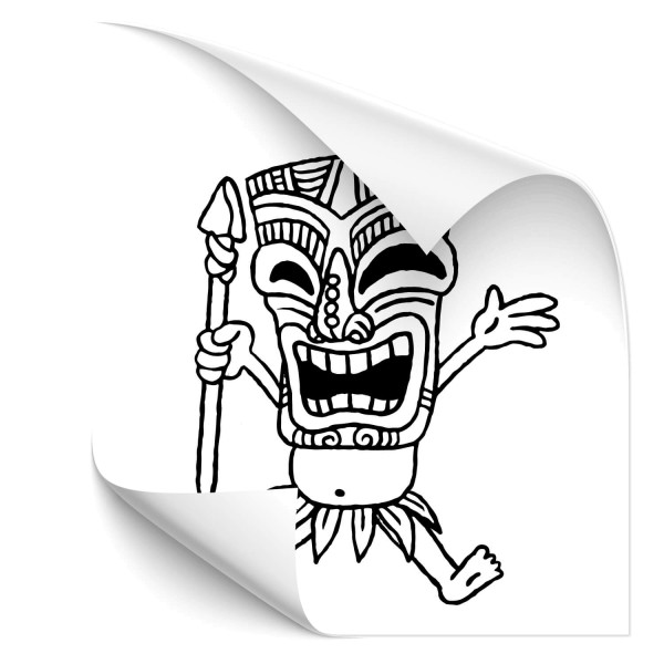 Tiki mask Auto Sticker - people