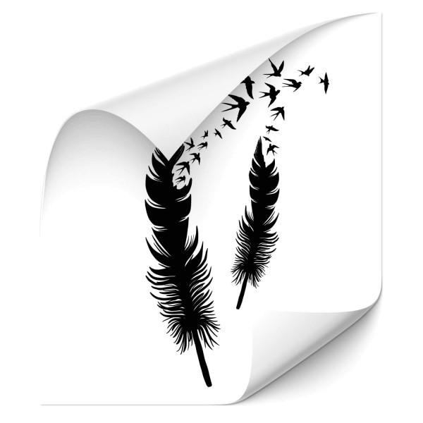 Federn mit Schwalben Autoaufkleber - Adler & weitere Vögel