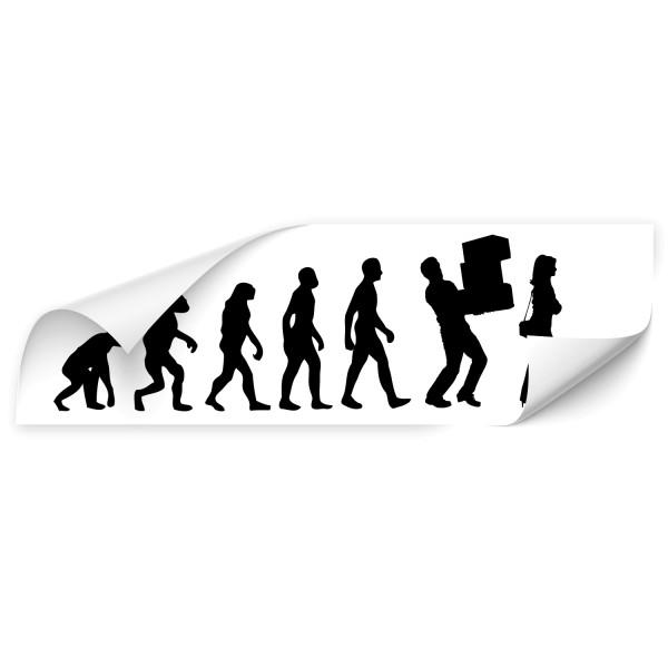 Evolution Fahrzeugsticker - people