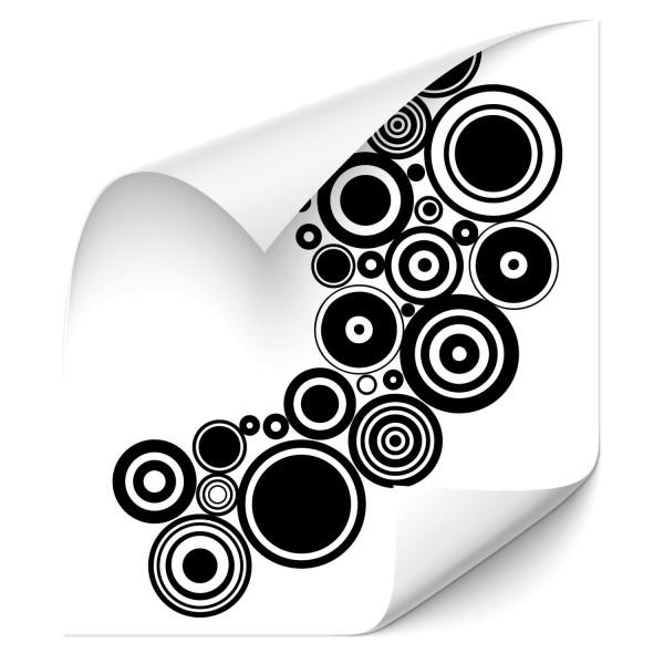 Retro Kreise Car Tattoo - Kategorie Shop