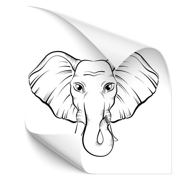 Elefantenkopf Autotattoo - Kategorie Shop