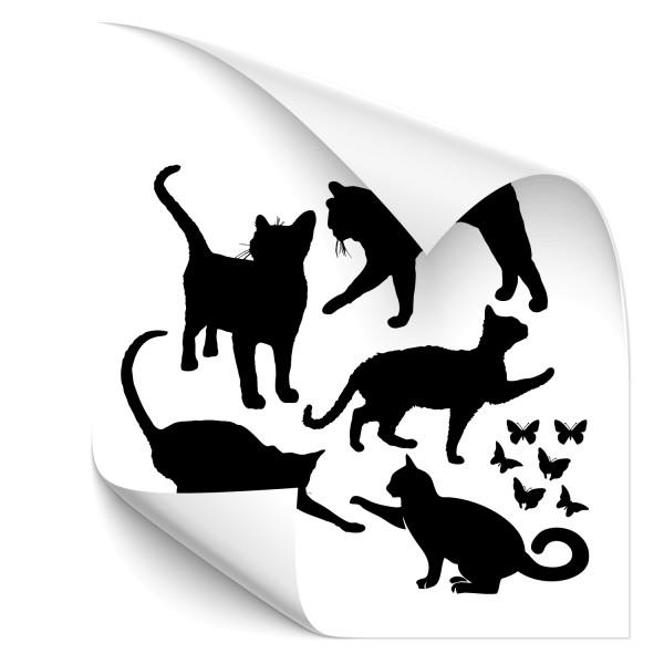 Katzen-Set Car Tattoo - katzen & Co
