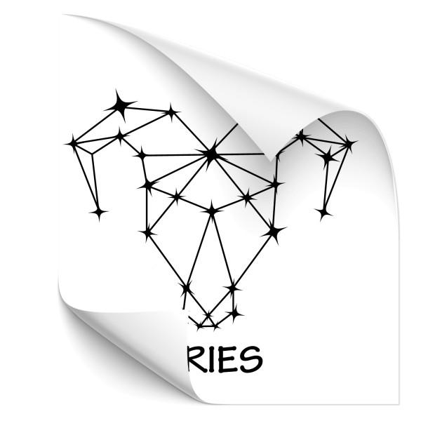 Aries - Sternbild Car Art Tattoo - Sternzeichen