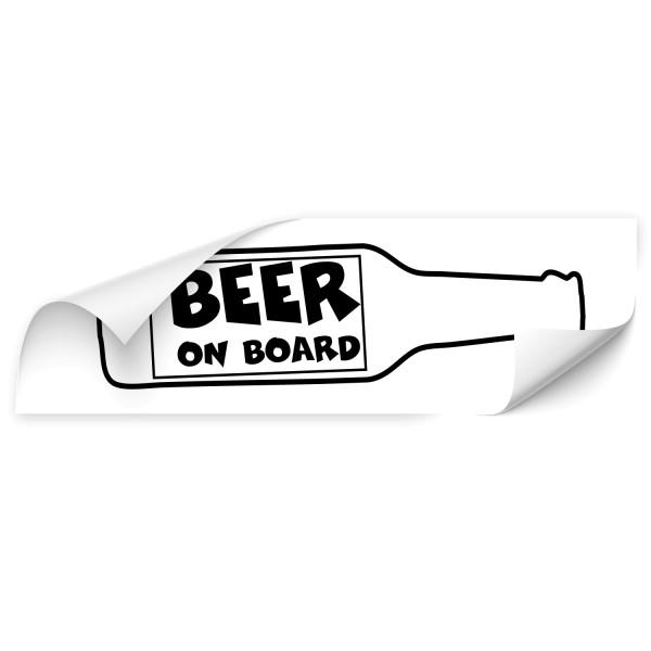 Beer on board Auto Foliensticker - heckscheibe
