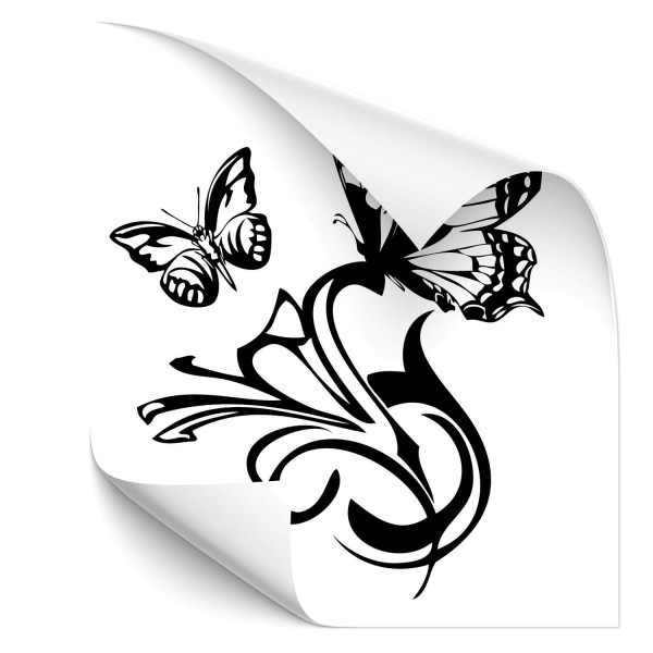 Lilien mit Schmetterling Sticker - Kategorie Shop