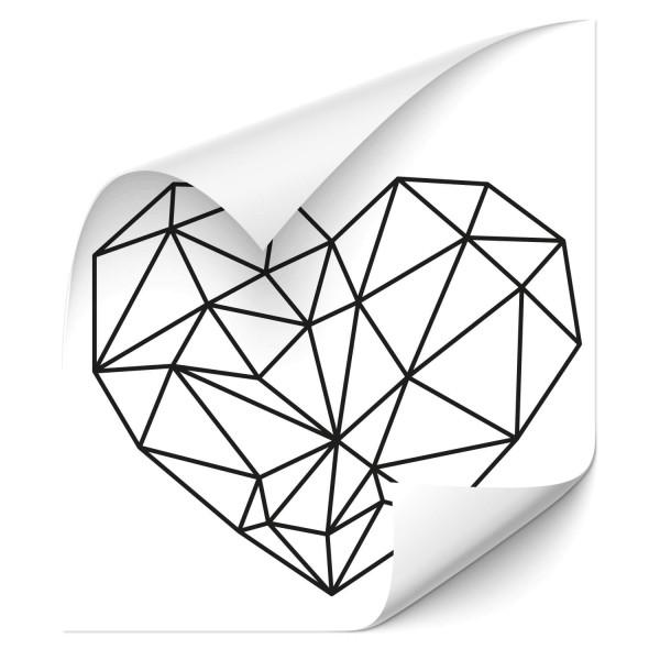 Polygon Herz - wandtattoo