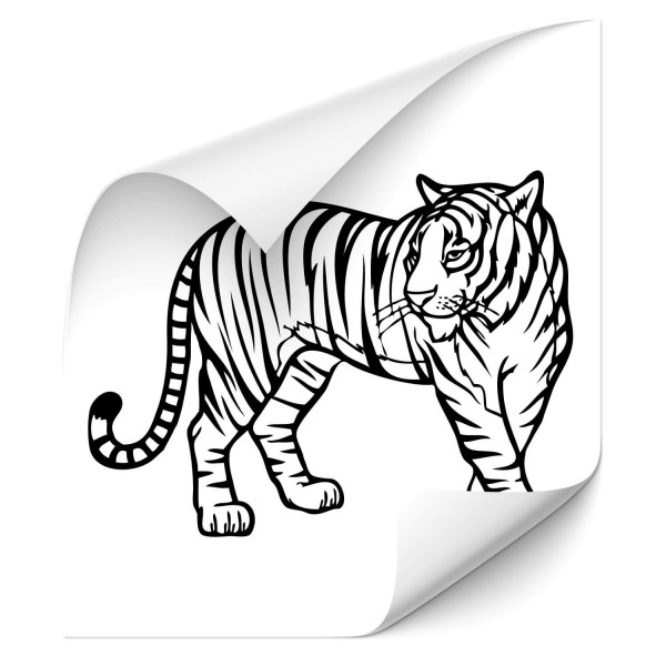 Tiger Fahrzeug Aufkleber - Kategorie Shop
