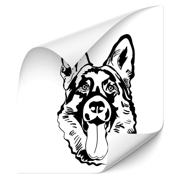 Schäferhund Fahrzeug Aufkleber - Rassehunde
