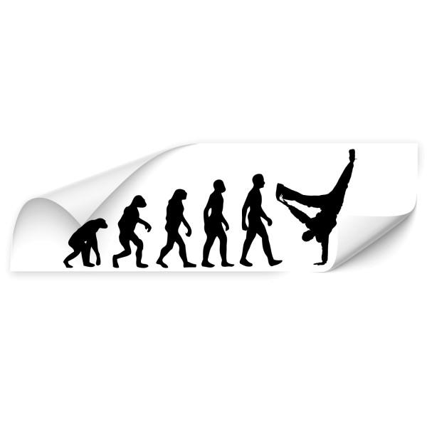 Evolution Vehikel Auto Aufkleber - Sport