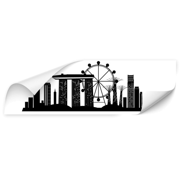 Singapur Skyline Auto Aufkleber - wandtattoo