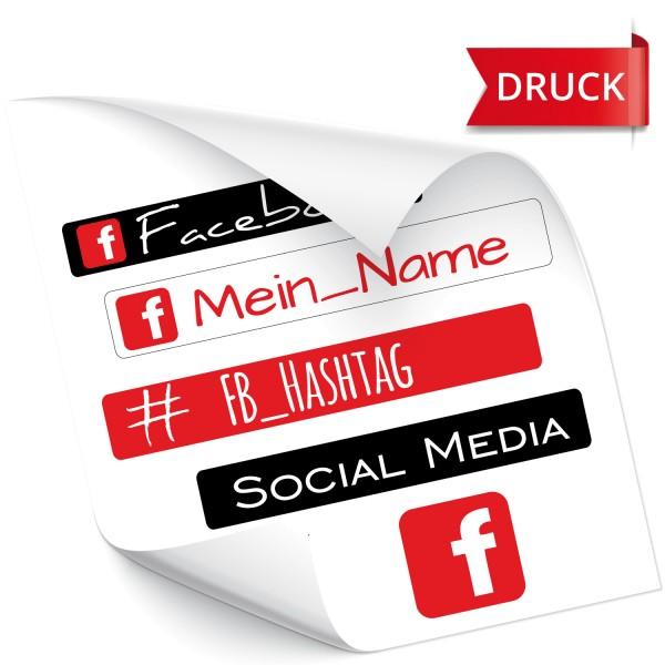 Facebook Namensaufkleber Facebook Namensaufkleber - Fahrername