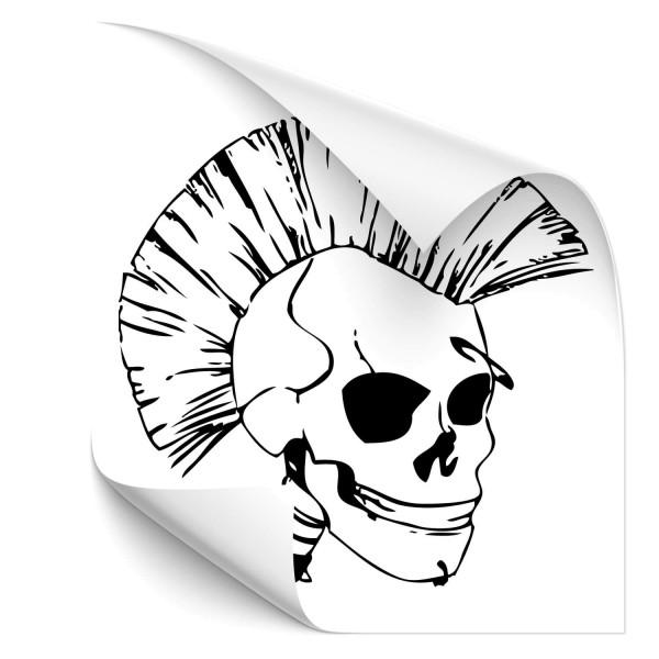 Punkrocker Totenkopf Car Tuning Sticker - Kategorie Shop