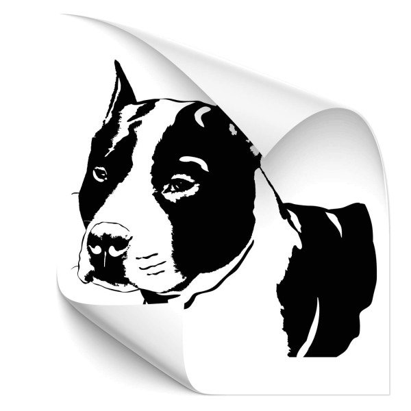 Stafford Bullterrier Fahrzeug Aufkleber - Hunde