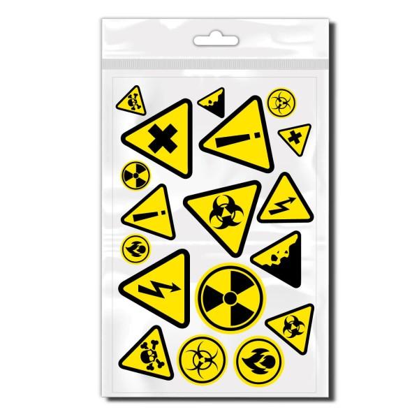 Gefahren Sticker - Kategorie Shop