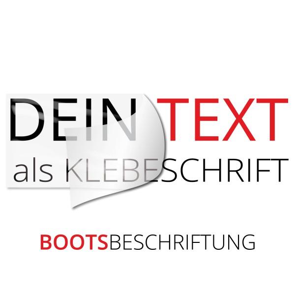 Bootsbeschriftung Wunschtext - Kategorie Shop