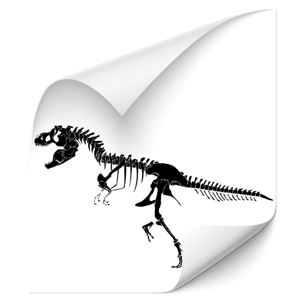 T-Rex Skelett Autoaufkleber - Kategorie Shop