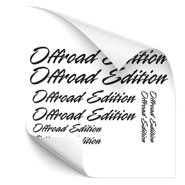 Offroad Edition Beschriftungs-Set Motorradsticker - Motorradaufkleber