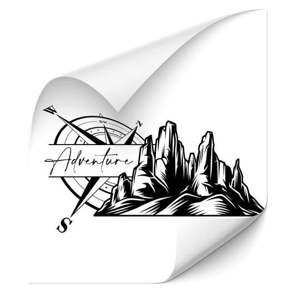 Mountain Adventure Autotattoo - wandtattoo