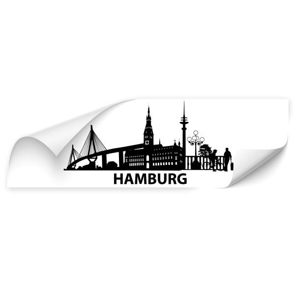 Hamburg Skyline Autoaufkleber - Skyline