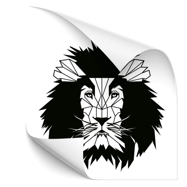 Löwe Polygon Fahrzeug Sticker - Kategorie Shop