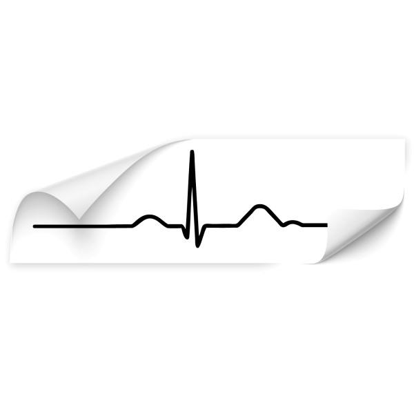 EKG Kurven Fahrzeug Aufkleber - Kategorie Shop