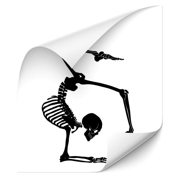 Skelett Autoaufkleber - Totenkopf