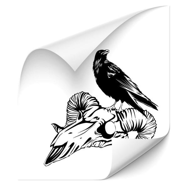 Raben auf Skelett Fahrzeugsticker - Adler & weitere Vögel