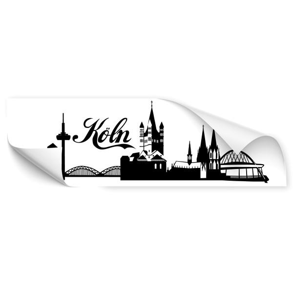 Köln Silhouetten Auto Tattoo - Skyline