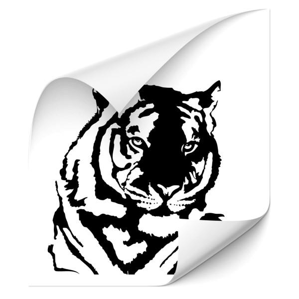Tigerkopf Autotattoo - katzen & Co