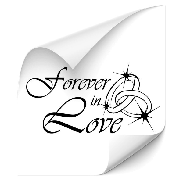 Forever in Love Heckscheiben Aufkleber - Kategorie Shop