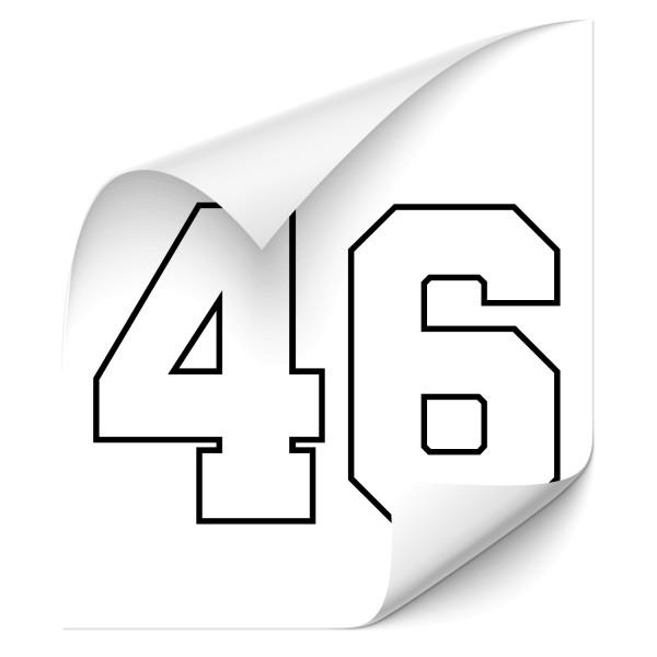 Racing Number Auto Aufkleber - sport