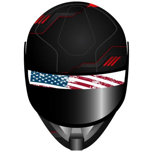 Visieraufkleber American Flag Motorradvisier Aufkleber - Kategorie Shop