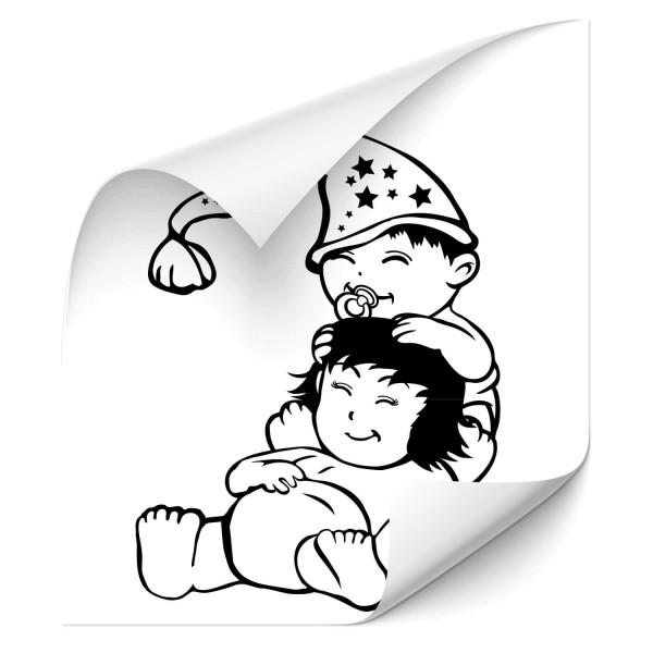 Bruder & Schwester Kfz Folien Sticker - wandtattoo
