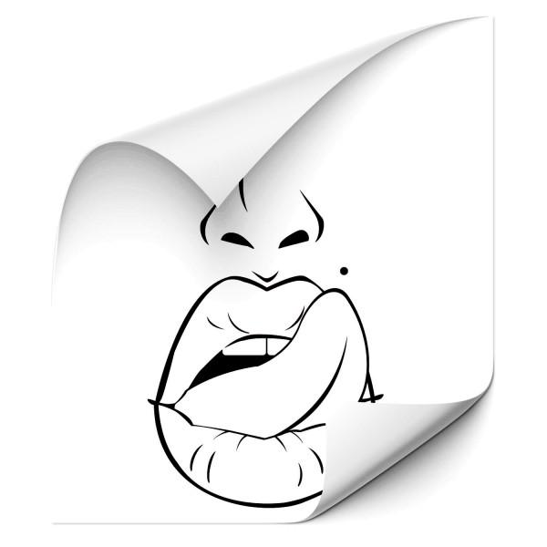 Lippen - wandtattoo