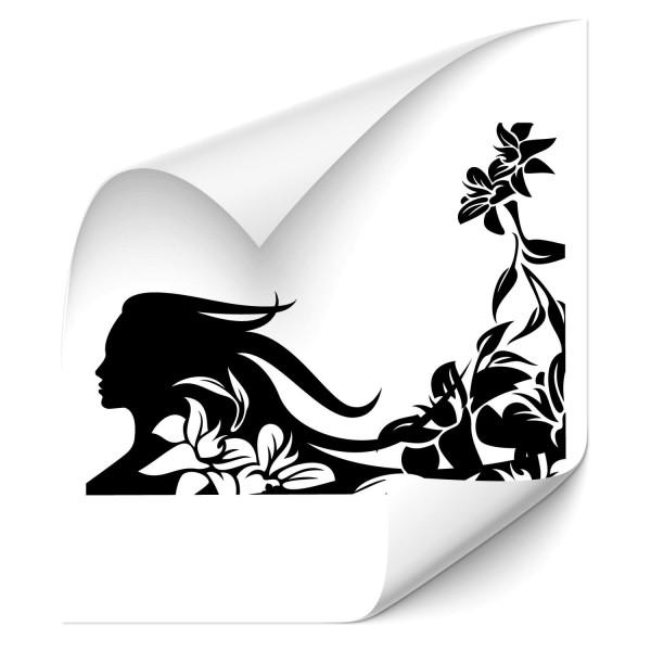 Silhouette mit Blumen Autosticker - Kategorie Shop