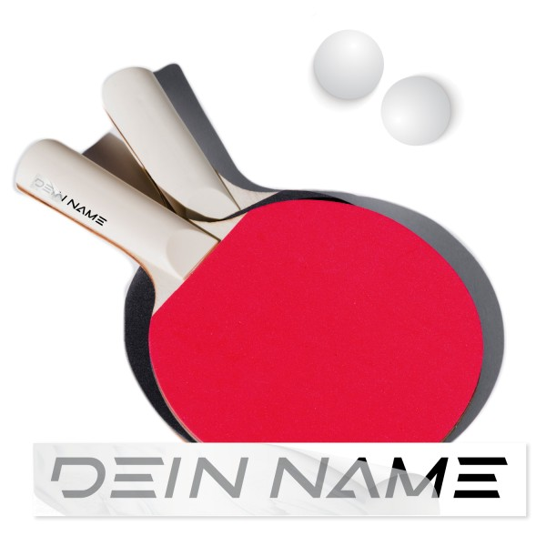Namenssticker für Tischtennis Schläger Namensaufkleber Tischtennis Schläger - Kategorie Shop