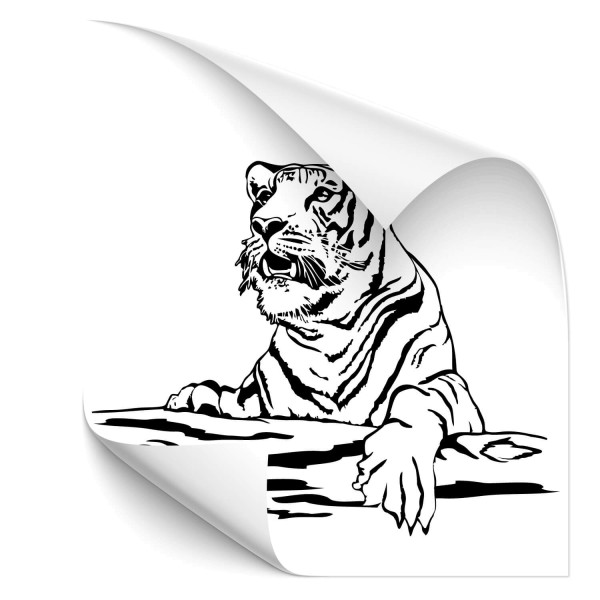 Tiger auf Baum Car Art Aufkleber - katzen & Co