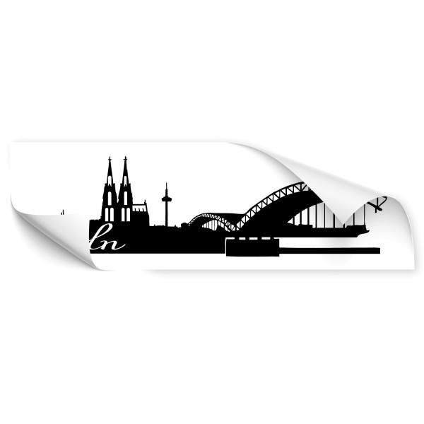 Köln Skyline Autoaufkleber - Skyline