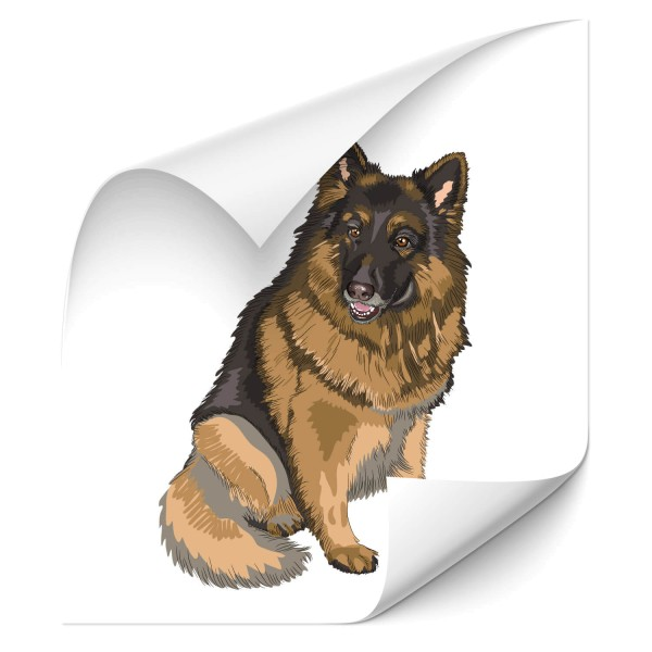 Deutscher Schäferhund Hecksticker - Kategorie Shop