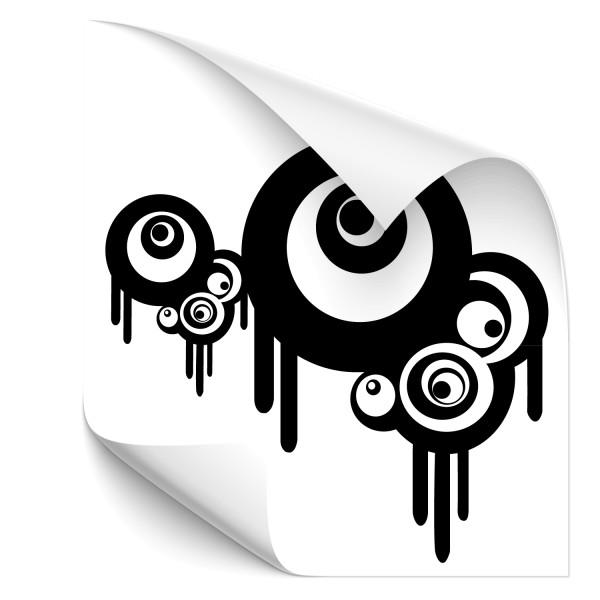 Retro Kreise Auto Tattoo - Kategorie Shop