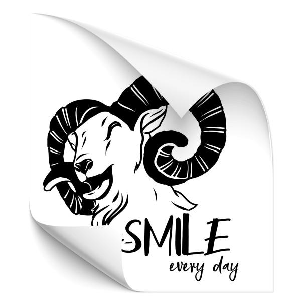 Smile every Day Ziege Fahrzeug Aufkleber - Sprüche | Schriftzüge